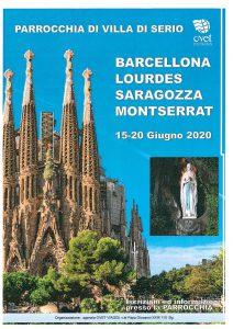 Viaggio Barcellona, Lourdes, Saragozza, Montserrant
