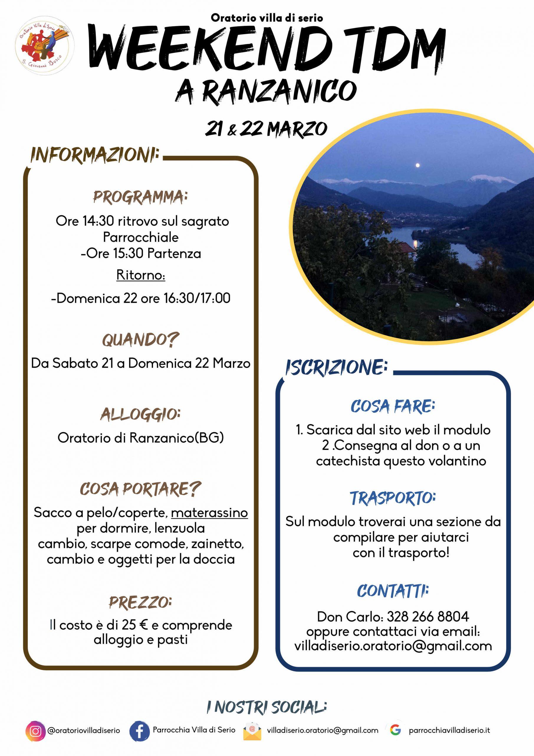 Weekend TDM – Ranzanico 2020