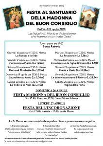 Festa al Santuario della Madonna del Buon Consiglio 2020