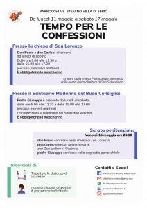 Tempo per le confessioni – da 11 al 17 maggio 2020