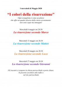 I mercoledì di Maggio 2020  – Catechesi don Paolo