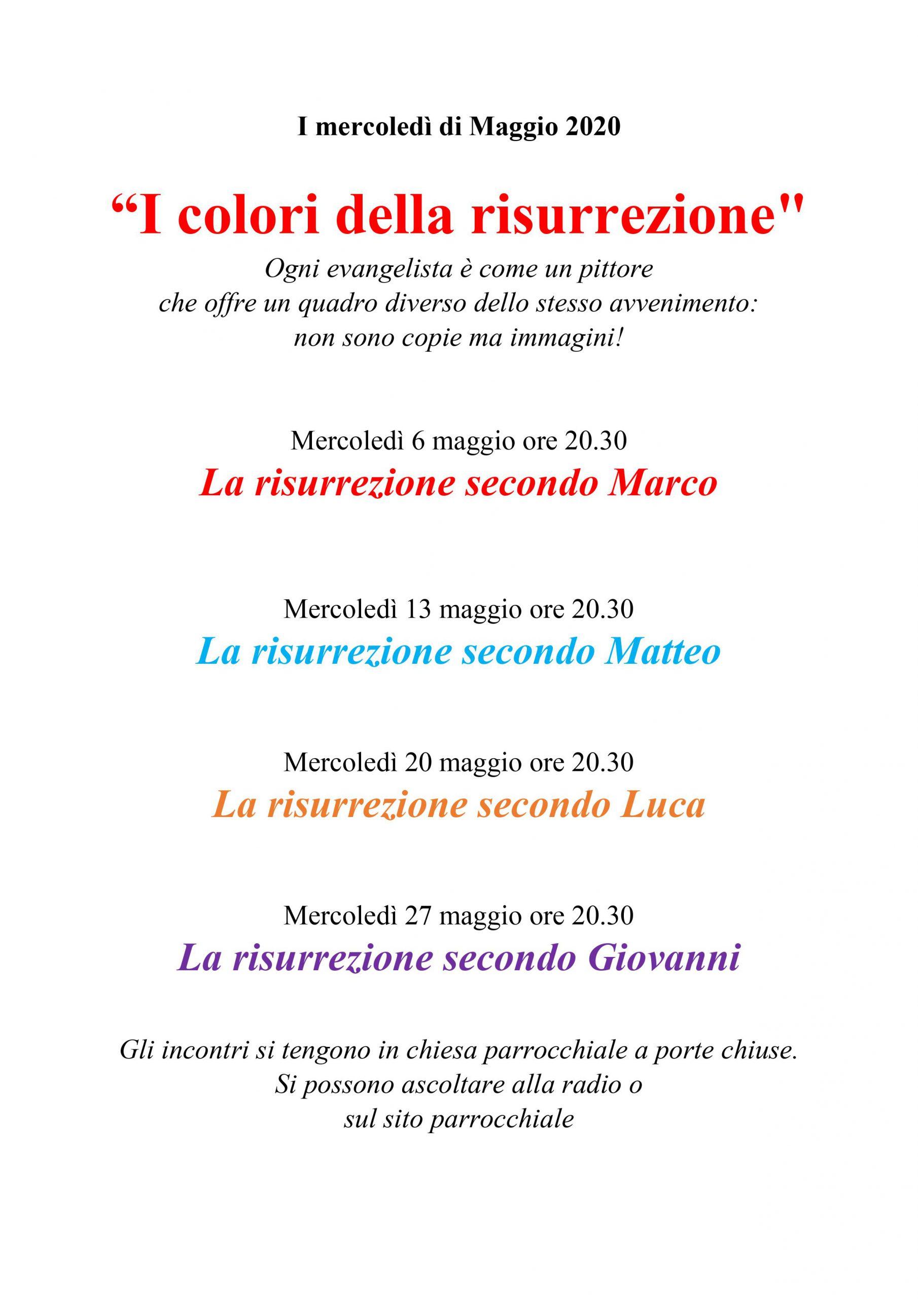 I mercoledì di Maggio 2020  – Catechesi don Paolo[TUTTE LE REGISTRAZIONI]