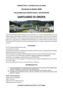 Pellegrinaggio al Santuario di Oropa 2020