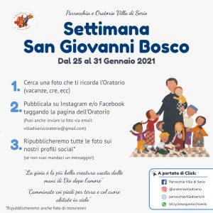 Settimana San Giovanni Bosco 2021