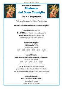 Festa della Madonna del Buon Consiglio – 2021